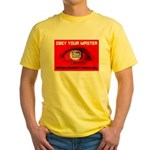 Fox News: Obey your Master Yellow T-Shirt