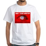 Fox News: Obey your Master White T-Shirt