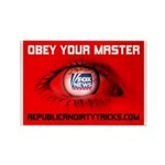 Fox News: Obey your Master Rectangle Magnet (10 pa