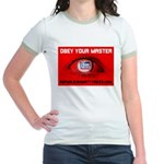 Fox News: Obey your Master Jr. Ringer T-Shirt