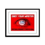 Fox News: Obey your Master Framed Panel Print