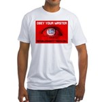 Fox News: Obey your Master Fitted T-Shirt