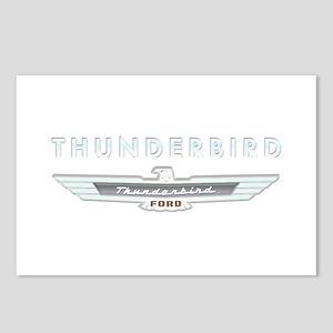 Ford Thunderbird Logo w Type Chrome Postcards (Pac