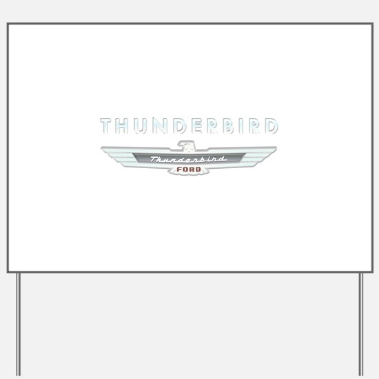 Ford Thunderbird Logo w Type Chrome Yard Sign