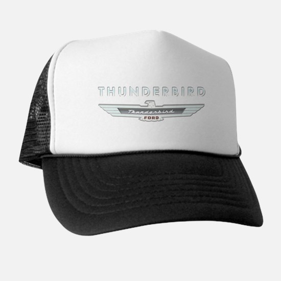 Ford Thunderbird Logo w Type Chrome Trucker Hat