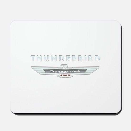Ford Thunderbird Logo w Type Chrome Mousepad