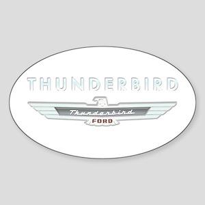 Ford Thunderbird Logo w Type Chrome Sticker (Oval