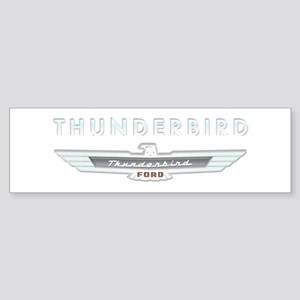 Ford Thunderbird Logo w Type Chrome Sticker (Bumpe