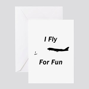 I Fly for Fun - Greeting Card