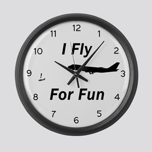 I Fly for Fun - Large Wall Clock