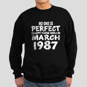 March 1987 Birthday Designs Sweatshirt (dark)