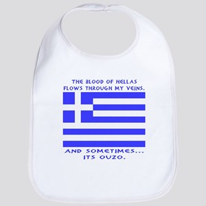 Blood of Hellas and Ouzo Bib
