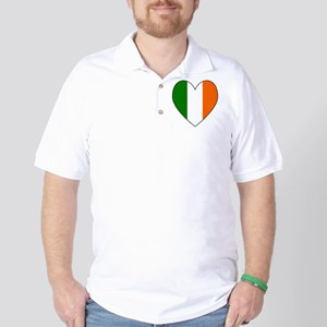 Irish Flag Heart Golf Shirt