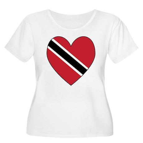 Trinidad & Tobago Flag Heart Women's Plus Size Sco