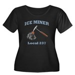 Ice Miner Women's Plus Size Scoop Neck Dark T-Shir