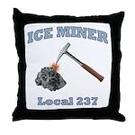 Ice Miner Throw Pillow