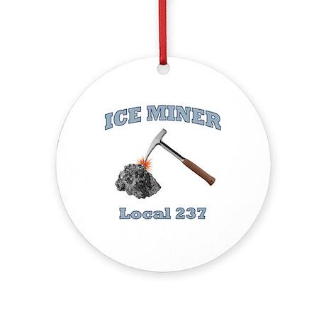 Ice Miner Ornament (Round)