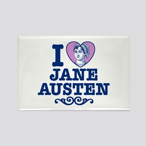 I Love Jane Austen Rectangle Magnet
