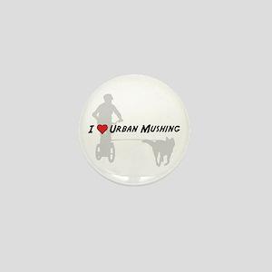 Love Urban Mushing Mini Button