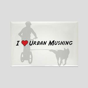 Love Urban Mushing Rectangle Magnet