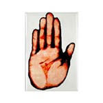 Red Hand Rectangle Magnet