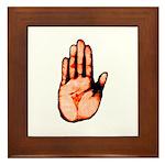Red Hand Framed Tile