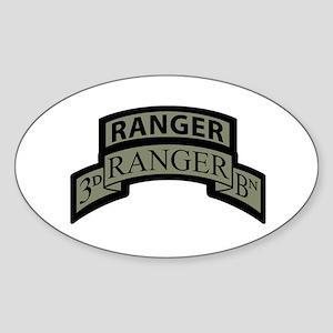 3rd Ranger Bn Scroll/Tab ACU Oval Sticker