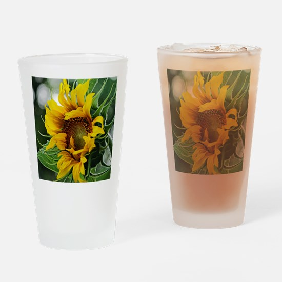 Funny Sunflower Drinking Glass