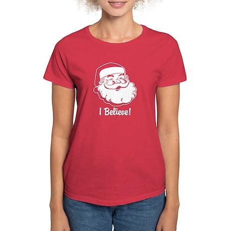 I Believe Santa Claus Women's Dark T-Shirt