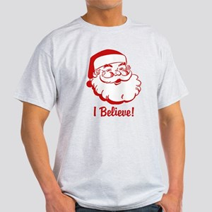 I Believe Santa Claus Light T-Shirt