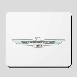Ford Thunderbird Emblem Chrome Mousepad