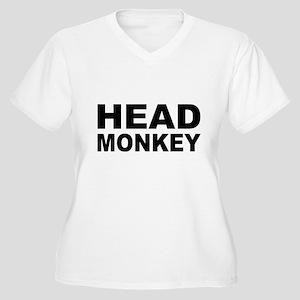 Head Monkey - Women's Plus Size V-Neck T-Shirt