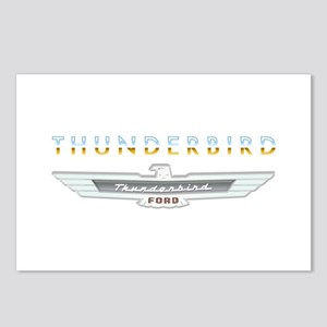 Ford Thunderbird Emblem Orange Chrome Postcards (P