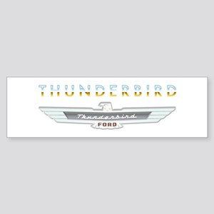 Ford Thunderbird Emblem Orange Chrome Sticker (Bum