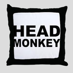 Head Monkey - Throw Pillow