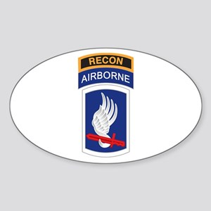 173rd ABN with Recon Tab Oval Sticker