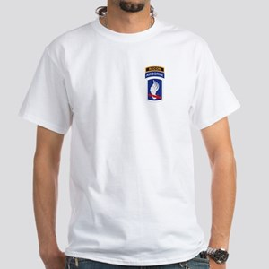 173rd ABN with Recon Tab White T-Shirt