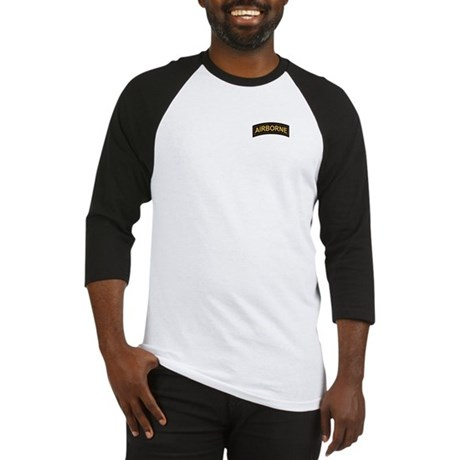 Airborne Tab Black and Gold Baseball Jersey