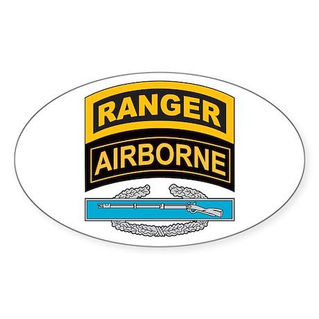 CIB with Ranger/Airborne Tab Oval Sticker