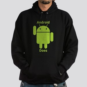 Droid Does Google Android Hoodie (dark)