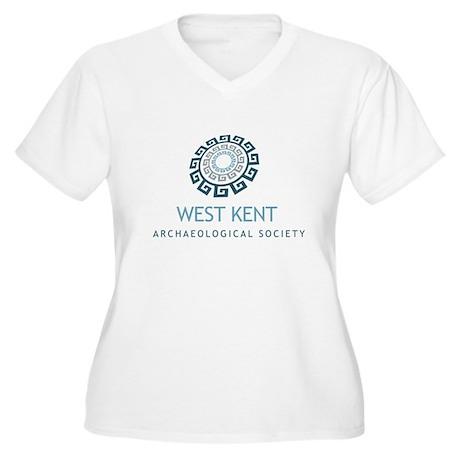 WKAS Women's Plus Size V-Neck T-Shirt