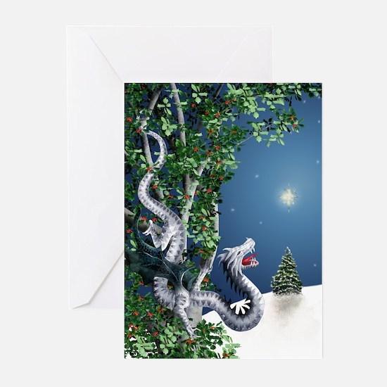 White Dragon Greeting Cards (Pk of 10)