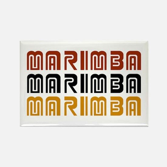 Tribal Marimba Rectangle Magnet