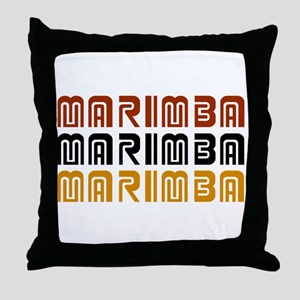 Tribal Marimba Throw Pillow