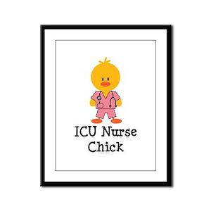 ICU Nurse Chick Framed Panel Print