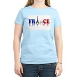 France Tricolore and Eiffel T Women's Light T-Shir