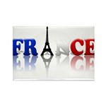 France Tricolore and Eiffel T Rectangle Magnet (10