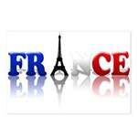 France Tricolore and Eiffel T Postcards (Package o