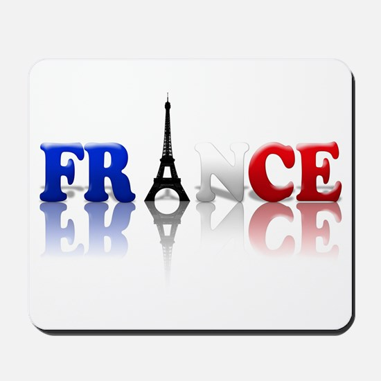 France Tricolore and Eiffel T Mousepad