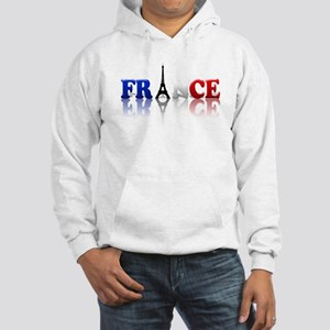 France Tricolore and Eiffel T Hooded Sweatshirt